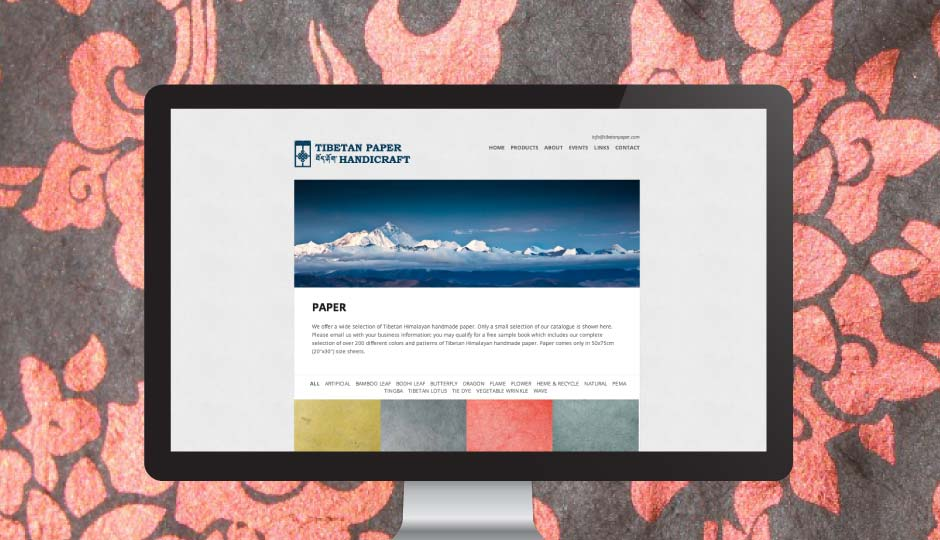 tibetan paper website redesign